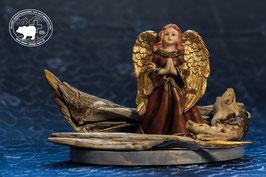 Designschwemmholz Dekoration mit betendem Engel 1