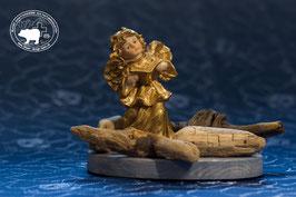 Goldengel Design -  Schwemmholzkomposition Engel und Buch