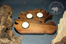 Holz Igelkerzenständer aus Nussbaumholz
