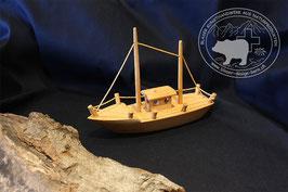 Holzspielzeug Segelschiff mit zwei Masten