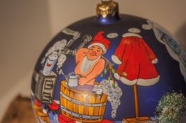 Im Badezimmer der Weihnachstmänner