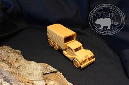 Holzspielzeug Lastwagen mit Verdeck