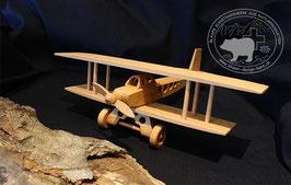 Holzspielzeug Doppeldeckerflugzeug