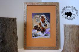 Indianer mit Bison