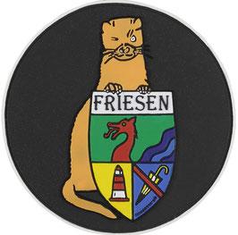 """Logopatch """"Friesennerz"""" aus umweltfreundlichem PVC in anthrazit"""