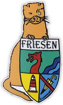 """Logopatch """"Friesennerz"""" aus umweltfreundlichem PVC als Freiform"""
