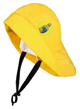 """Südwester """"Land voraus!"""" gelb mit Patch in gelb"""