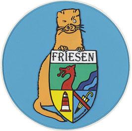 """Logopatch """"Friesennerz"""" aus umweltfreundlichem PVC in türkis"""