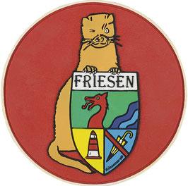 """Logopatch """"Friesennerz"""" aus umweltfreundlichem PVC in rot"""