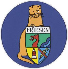 "Logopatch ""Friesennerz"" aus umweltfreundlichem PVC in blau"