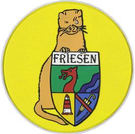 """Logopatch """"Friesennerz"""" aus umweltfreundlichem PVC in gelb"""
