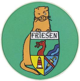"""Logopatch """"Friesennerz"""" aus umweltfreundlichem PVC in hellgrün"""