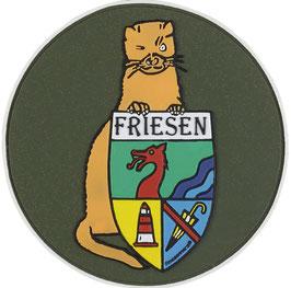 """Logopatch """"Friesennerz"""" aus umweltfreundlichem PVC in dunkelgrün"""