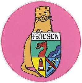 """Logopatch """"Friesennerz"""" aus umweltfreundlichem PVC in pink"""