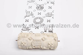Musterwalze 2018-0331 mit Küchenmotiven Wasserkanne Kanne Karaffe Krug (K18.14)