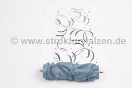 Musterwalze 2019-0081 mit zarten Blättern (50er 60er Jahre) - 15cm - (K18.9)
