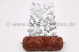 Musterwalze 2021-1188 mit schönem floralem Muster  (50er 60er Jahre) - (K19.5)