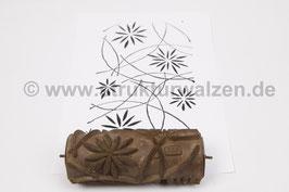 Musterwalze 2021-1187 mit schönem floralem Muster / Blüten  (40er 50er Jahre) - (K19.5)