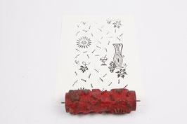 Musterwalze 2019-4029 mit schönem floralem Muster / Vase Karaffe  (40er 50er Jahre) - (K19.7)