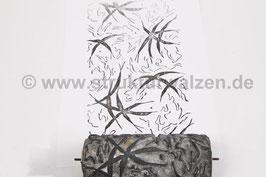 Musterwalze 2021-1562 mit dem Edelweiß ähnlichen Blätter / Formen  - (K18.3)
