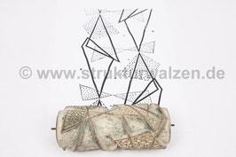 Musterwalze 2021-0344 mit geometrischen Formen - Dreiecke (60er 70er Jahre) - 15cm - (K21.3)