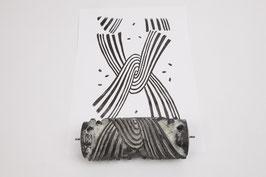 Musterwalze 2020-2026 mit Schleife im Op-Art Stil - (18.12)