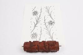 Musterwalze 2019-4030 mit schönem rankenden Blüten (50er 60er Jahre) - (K19.7)