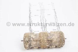 Musterwalze 2020-1461 mit schönem Längsmuster mit Formen der 50er / 60er Jahre - 15cm - (K18.3)