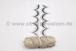 Musterwalze 2020-1733 mit Band / Bordüre im ArtDeco Stil - 15cm - (K18.12)