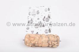Musterwalze 2015-2510 mit Küchenmotiven Teekanne Kannen Karaffen Krügen