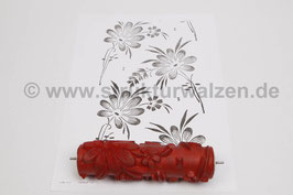 Musterwalze 2020-1995 mit floralem Motiv / Blumen der 50er 60er Jahre - (K18.15)