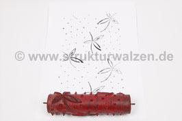 Musterwalze 2021-0077 mit zarten Blättern (50er 60er Jahre) - 15cm - (K21.2)