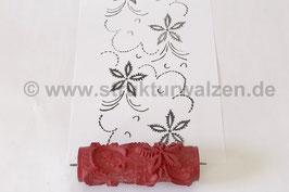 Musterwalze 2019-1950 mit schönem floralem Muster / Blüten  (40er 50er Jahre) - (K18.2)
