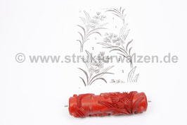 Musterwalze 2020-2065 mit schönem floralem Muster  (50er 60er Jahre) - (K19.3)