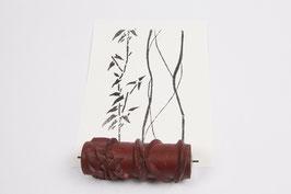 Musterwalze 2019-4035 - Rankenes Blättermuster mit Streifen / Bambus (50er 60er Jahre) - (K19.7)