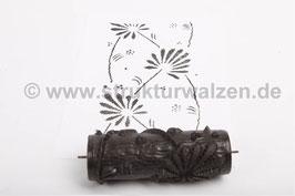 Musterwalze 2017-1052 mit schönem Blätter Muster (50er 60er Jahre) - (K18.5)