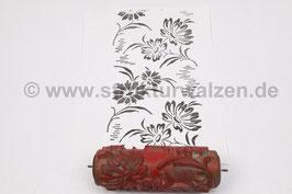 Musterwalze 2020-2053 mit floralem Motiv / Blumen der 50er 60er Jahre - (K18.14)