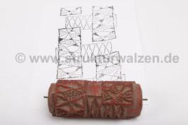 Musterwalze 2016-3777 mit abstraktem 60er 70er Jahre Muster - 15cm -  (K18.9)