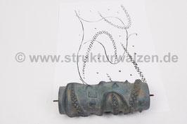 Musterwalze 2021-1213 mit zartem Muster / Formen der 40er / 50er Jahre - (K19.7)