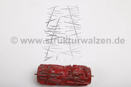 Musterwalze 2016-1105 mit abstrakten Streifen  - 15cm - (K18.4)