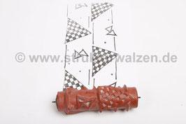 Musterwalze 2017-3551 mit Dreiecken - Autorennen / Flagge - (K18.1)