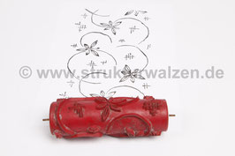 Musterwalze 2018-1312 mit floralem Muster Blütten - Breite: 15cm - (K18.11)