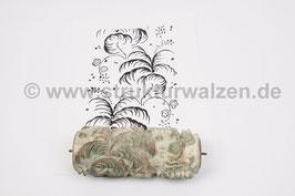 Musterwalze 2021-0072 mit schönem Blätter Streumuster mit Blättern (60er 70er Jahre) - (K21.2)