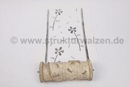 Ringwalze 2020-2105 - mit kantigen Blumen / Blüten als Streumuster