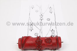 Musterwalze 2021-1192 mit zarten Linien und kleinen Ornamenten - Bordüre oder als Streifen - 15cm - (K19.5)