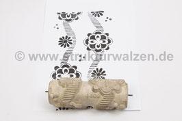 Musterwalze 2020-1729 mit schönem runden Blüten (70er Jahre) - (K18.4)