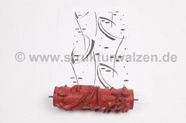 Musterwalze 2019-0080 mit Wgeschwungenen Formen / Streifen (50er 60er Jahre) - 15cm - (K18.9)