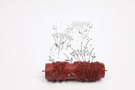 Musterwalze 2020-1469 mit schönen floralem Streumuster (40er 50er 60er Jahre) - (K19.3)