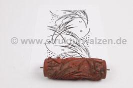 Musterwalze 2019-2603 mit Blätter Muster (50er 60er Jahre) - 15cm - (K19.1)