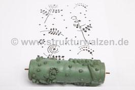 Musterwalze 2018-0394 mit floralem Muster Blütten  - (K18.15)